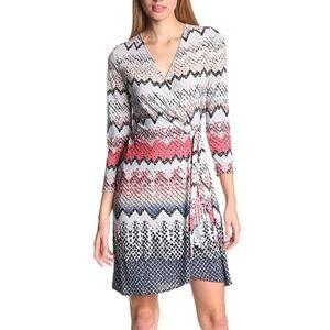 BCBGMaxAzria multicolour wrap dress